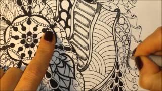 How to draw mandala (5) - Jak narysować mandalę (5) - zentangle, doodling