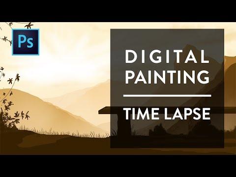 Digital Painting | Munnar Landscape | Time Laspe | Photoshop
