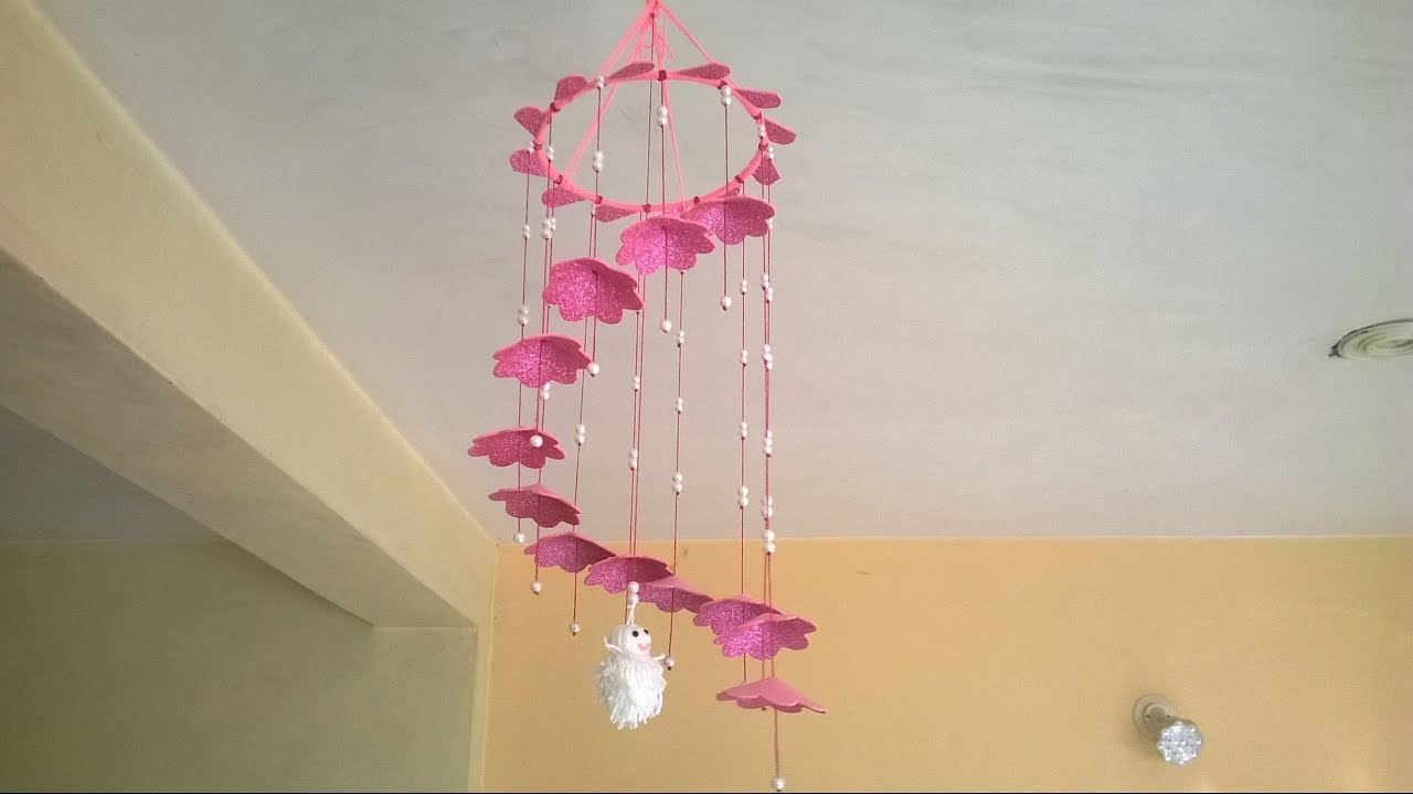 DIY Wall Hanging    Home decoration idea - YouTube on Wall Decoration Ideas At Home  id=82593