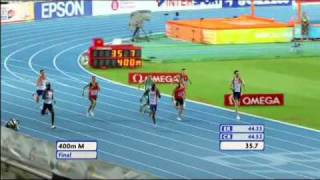Kevin Borlee wins gold on the EC Outdoor 2010