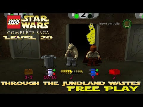 Lego Star Wars TCS: Ep 4 Chap 2 / Through The Jundland Wastes FREE PLAY (All Collectibles) - HTG