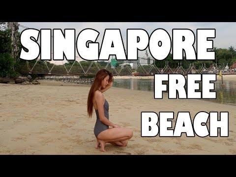Singapore Travel Vlog 2017 (Free Beach)