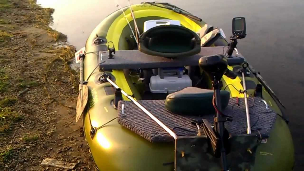 sevylor360 fishhunter trolling motor, fish finder - youtube, Fish Finder