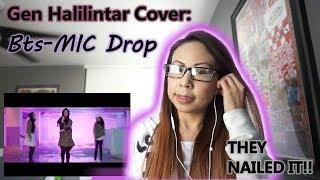 BTS(방탄소년단) - MIC DROP - GEN HALILINTAR (COVER) (STEVE AOKI REMIX) 11 KIDS+MOM   REACTION