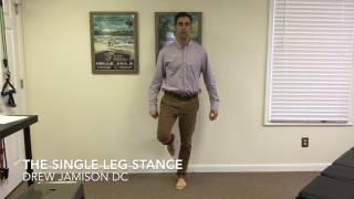 Richmond VA Chiropractor   Single Leg Stance