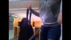 WEBCAM Former Oregon State student Kendra Sunderland arrested video in campus library RAW