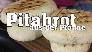 Pitabrot aus der Pfanne I Pfannenbrot I schnell gemacht (vegan)