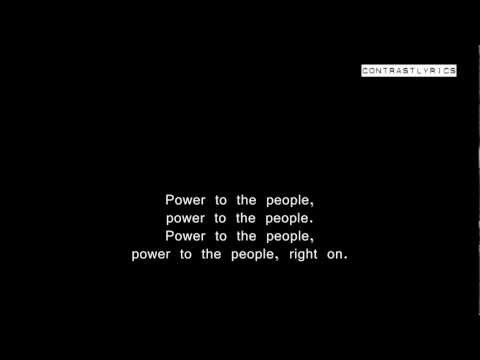 Power To The People - J o h n L e n n o n - Full Lyric Video from the channel Contrast Lyric