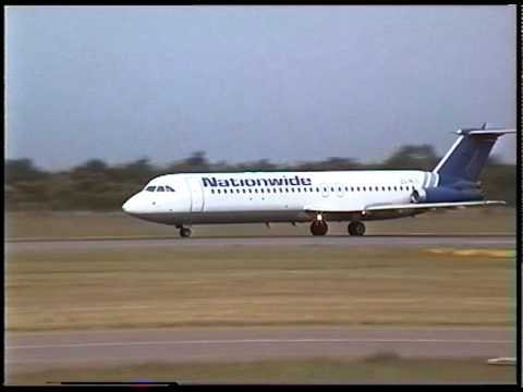 BAC 1-11 of Nationwide Airlines takes off at Bulawayo Zimbabwe
