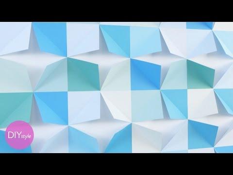 DIY Folded Paper Wall Art - DIY Style with Erin Furey - Martha Stewart