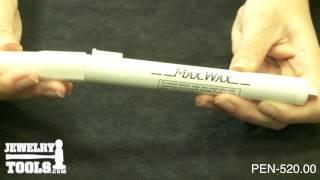 PEN-520.00 - Super Max Wax Pen, 8-1/2 Inch - Jewelry Tools Demo