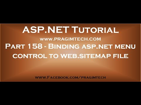 Part 158 Binding asp net menu control to web sitemap file using sitemapdatasource control - YouTube