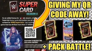 WWE 2K20 QR CODE GIVEAWAY! GET FREE CARDS NOW! PLUS BIG WWE SuperCard PACK BATTLE! Noology