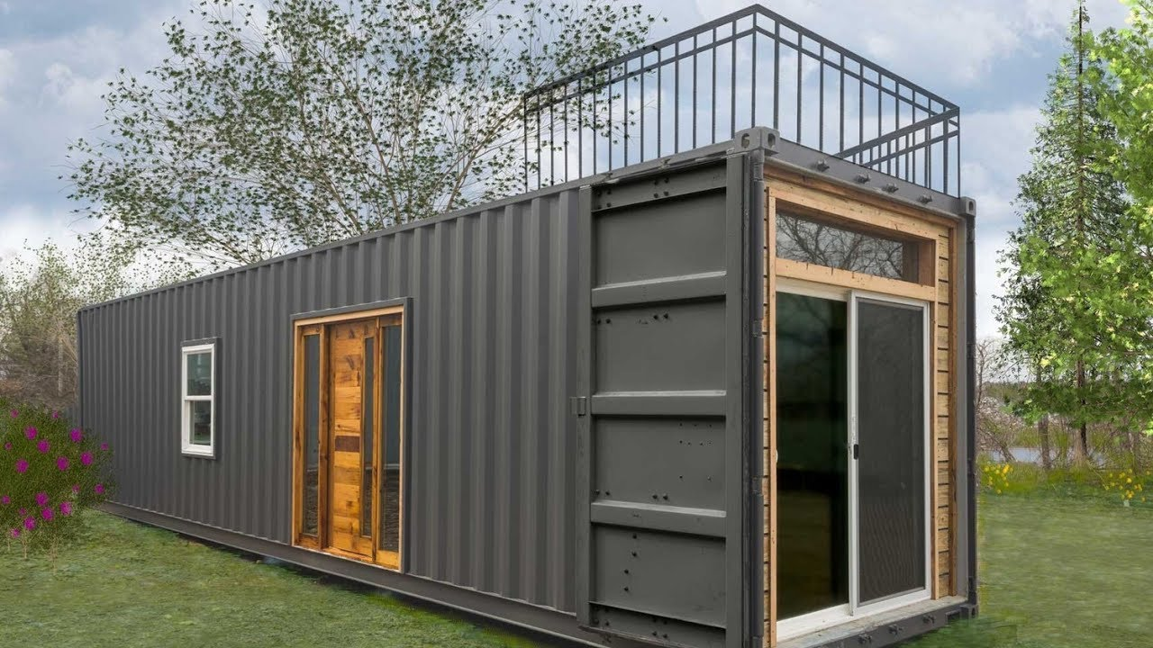 freedom tiny containers homeminimalist homes - youtube
