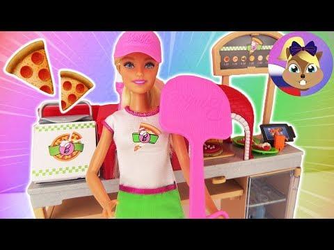 Игровой набор БАРБИ ПИЦЦЕРИЯ | Барби готовит пиццу из пластилина  | Mattel Барби Пицца шеф