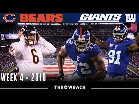 SACKFEST On Sunday Night! (Bears Vs. Giants, 2010)