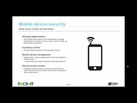 PACE-IT: Security + 4.2 - Mobile Security Concepts and Technologies (part 1)