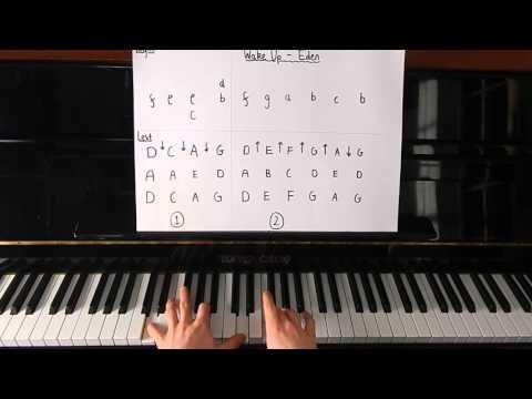 EDEN - Wake Up -  Piano Tutorial - Miavono
