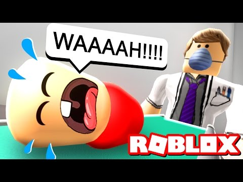 BABY GOES TO THE HOSPITAL IN ROBLOX