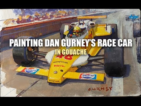 Painting Dan Gurney's Race Car in Gouache