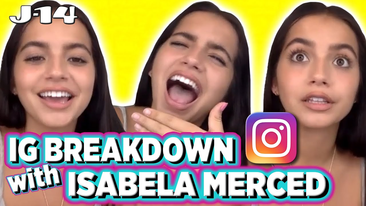 Isabela Merced Reacts to Old Instagram Pics With Jace Norman, Lilimar & More | IG Breakdown