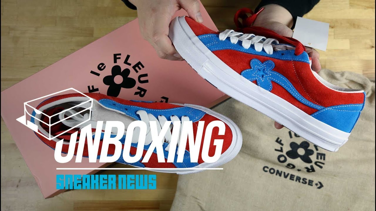 44dcc6baa99e Unboxing The Tyler Golf Le Fleur Converse One Star - YouTube