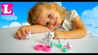 Животные куклы Штеффи / Мама кошка и котята Штеффи