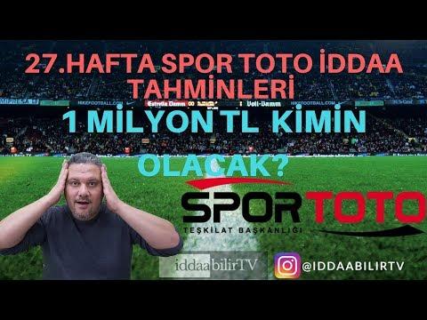 Spor Toto 27.hafta iddaa tahminleri/free picks/�bilirTV