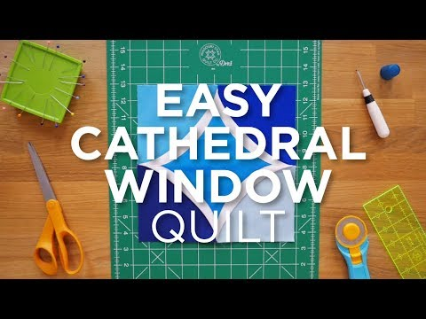 Quilt Snips Mini Tutorial - Easy Cathedral Window