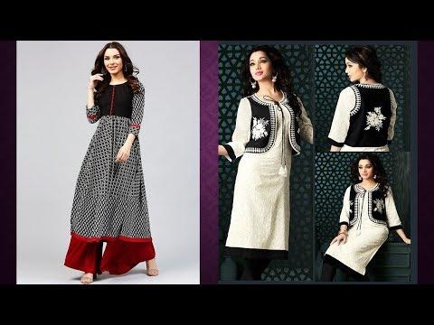 Black And White Kurti Designs 2019   Indian Fashion 2019