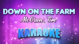 McGraw, Tim - Down On The Farm (Karaoke & Lyrics)