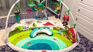 Развивающий коврик с дугами Tiny Love Веселая Поляна. Виде обзор. Игрушки с самого рождения.