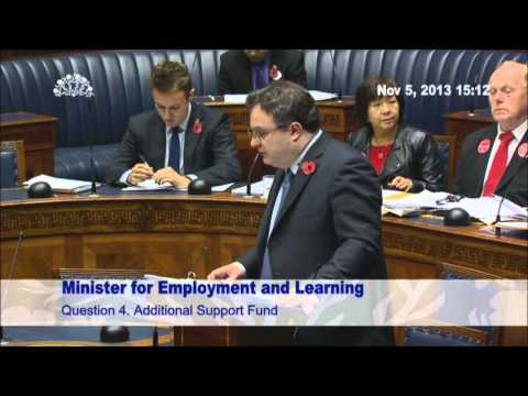 Question Time: Minister for Employment and Learning Tuesday 05 November 2013