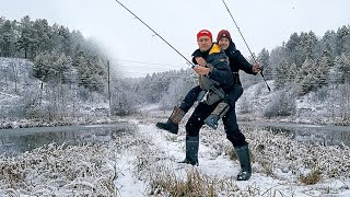 Рыболовный поход с сыном - первая рыбалка 2020 | Константин Андропов | Рыбалка с сыном