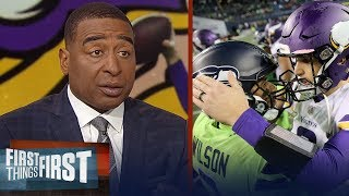 Cris Carter reacts the Vikings 21-7 loss to the Seahawks on MNF | NFL | FIRST THINGS FIRST