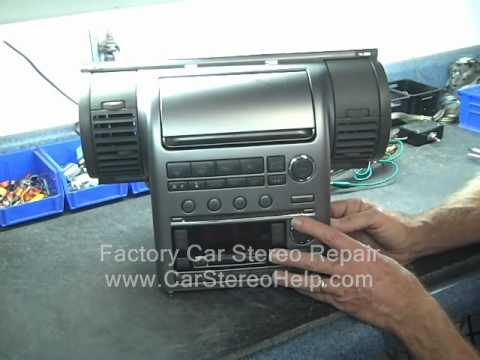Infiniti G35 Bose Audio Finisher Car Stereo CD climate controls inop locked up Repair fix Replace
