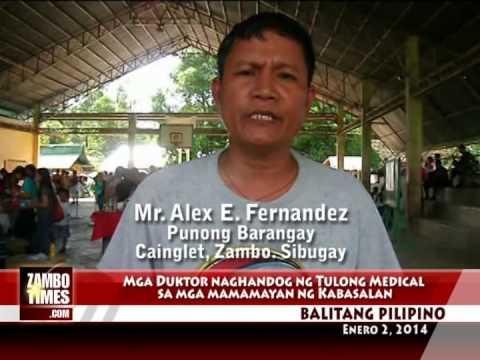 Balitang Pilipino : ZCMS Naghandog ng Tulong Medikal sa Kabasalan sa Rizal Day (Dec 30, 2013)