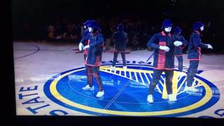jabbawockeez nba finals 2017 cavs vs gs