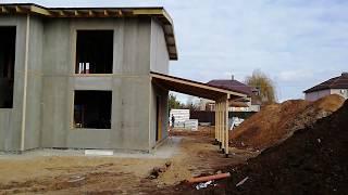 Видео обзор дома из SIP панелей ЦСП. Проект дома с бассейном.