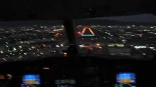 プライベートジェット夜間飛行 大阪八尾空港に着陸 その(3)