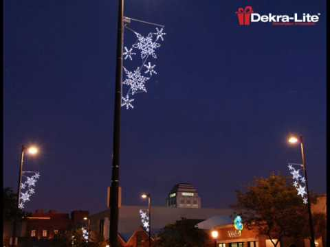 light pole decorations dekra lite industries inc youtube - Christmas Pole Decorations