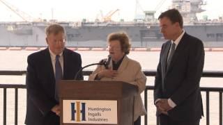 Senators Mikulski and Warner Visit Newport News Shipbuilding