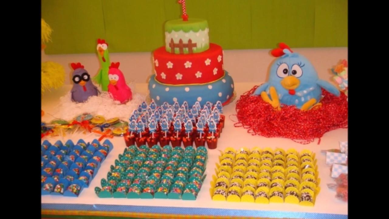 IDÉIAS DE DECORA u00c7ÃO DE FESTA DA GALINHA PINTADINHA YouTube -> Decoração De Festa Infantil Da Galinha Pintadinha Rosa