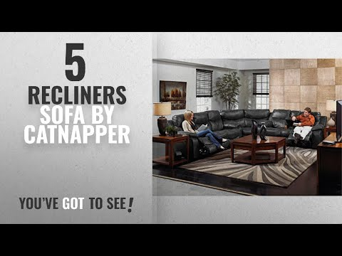 Top 5 Catnapper Recliners Sofa [2018]: Catnapper Catalina Leather Reclining Sectional -