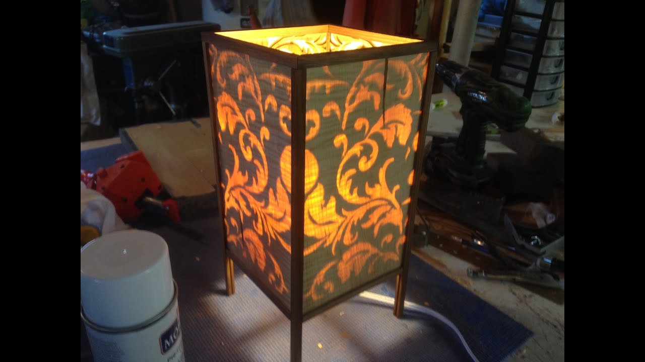 Wooden Rice Paper Lamp Wooden Rice Paper