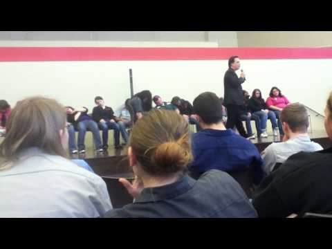 Hypnotist at Vantage Career Center Pt.4