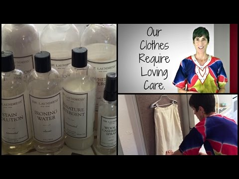 How to Wash Dry Clean Only Garments ~ The Dress Up Mom Uses The Laundress Products