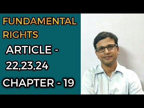 Fundamental right article.22,23&24 (uppcs,upsc dsssb,ssc)polity-19