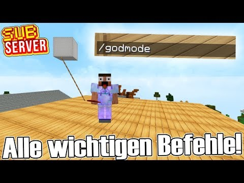 ALLE Befehle die ihr braucht! - Minecraft SubServer   Earliboy
