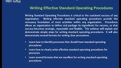 Writing Effective Standard Operating Procedures
